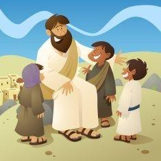 stock-illustration-7285272-jesus-and-children